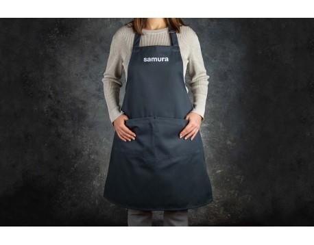 "Кухонный фартук ""серый"" Samura Малый ""M"""