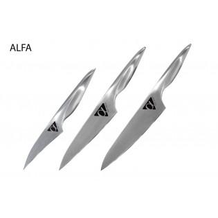 Набор из 3-х ножей Samura ALFA овощной, универсальный, шеф