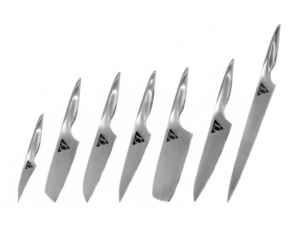 Набор из 7-ми ножей Samura ALFA овощной, усуба, сантоку, универсальный, накири, шеф, слайсер