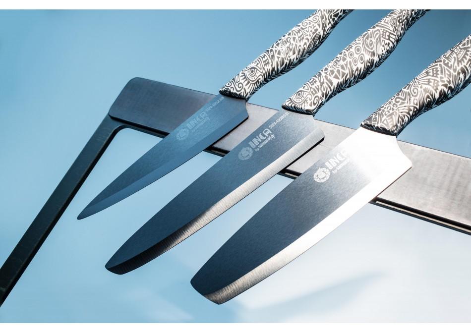 Обзор набора из 3-х ножей Samura Inca в черном цвете