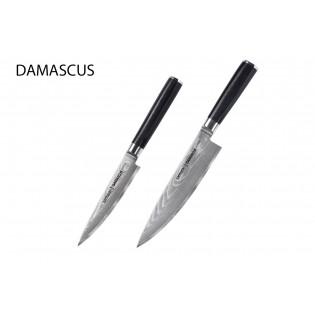 Набор из 2-х ножей Samura Damascus универсальный 125 мм, шеф