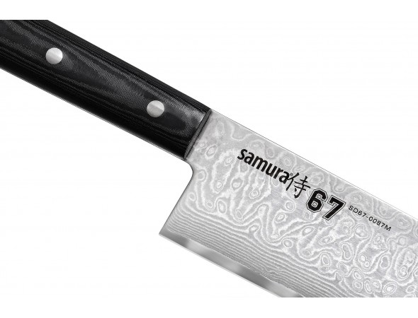 Нож SAMURA 67 DAMASCUS Гранд Шеф, 240 мм
