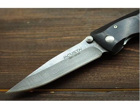 Нож складной Mcusta MC-0013D с обкладками из дамасской стали