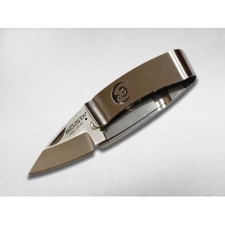 Нож-зажим для денег складной TSURU (журавли) Mcusta