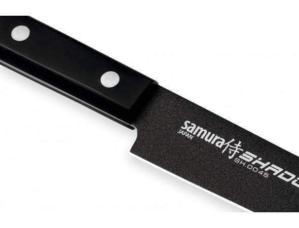 Нож Samura Shadow Слайсер, 196 мм с покрытием BLACK FUSO