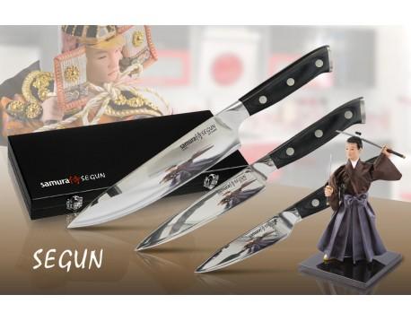 Набор из 3-х ножей Samura Segun Овощной 95 мм, Универсальный 150 мм и Шеф 200 мм