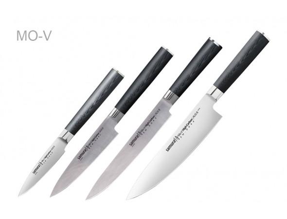 Набор из 4-х ножей Samura Mo-V Овощной, Универсальный 150 мм, Для нарезки, Шеф