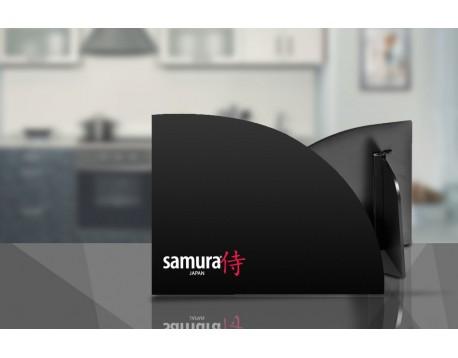 Набор из 6-ти ножей Samura Custom Овощной 110 мм, Универсальный 150 мм, Для Нарезки 225 мм, Шеф 180 мм, Шеф 210 мм, Сантоку 182 мм и подставки