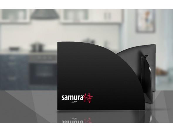 Набор из 5-х ножей SAMURA KAIJU, овощной, универсальный, шеф, накири, сантоку и подставки