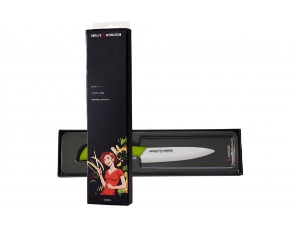 Нож кухонный Samura Eco Festival универсальный 125 мм (салатовый)