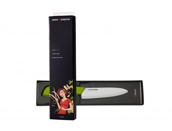 Нож кухонный Samura Eco Festival шеф 145 мм (салатовый)