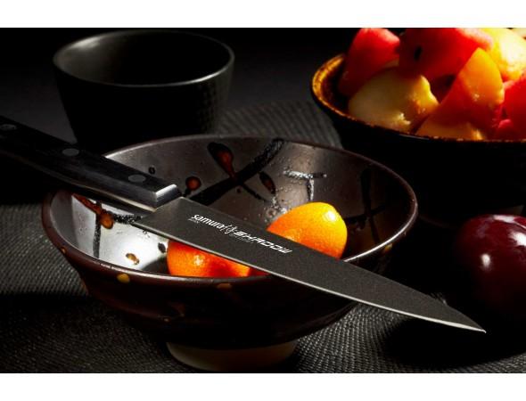 Нож Samura Shadow Универсальный, 120 мм с покрытием BLACK FUSO