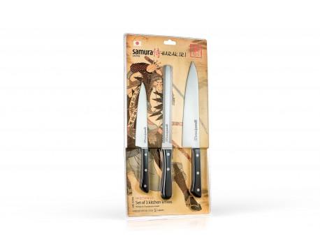 Набор из 3-х ножей Samura Harakiri универсальный 150 мм, для замороженных продуктов, шеф