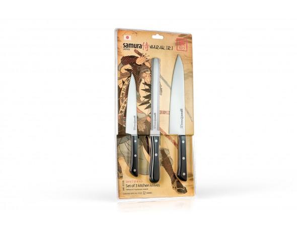 Набор Samura Harakiri 3 ножа SHR-0230W универсальный, для замороженных продуктов, шеф