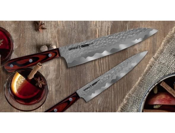 Набор из 4-х ножей SAMURA KAIJU, овощной, универсальный, шеф, накири