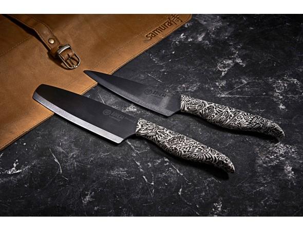 Нож керамический Samura INCA Накири, 165 мм, черный