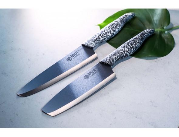Набор из 3-х керамических ножей Samura INCA универсальный, Шеф, Накири