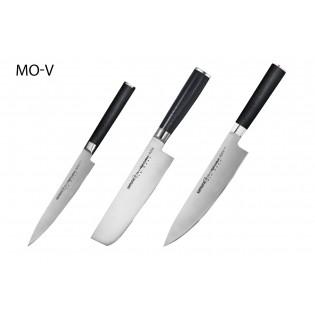 Набор из 3-х ножей Samura Mo-V Универсальный 150 мм, Накири, Шеф